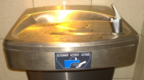 Drinking water fountain - sensor activated